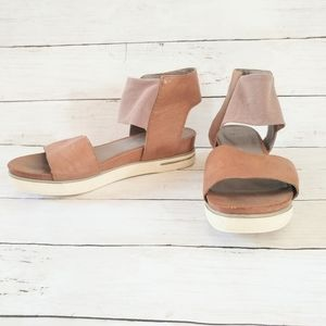 Eileen Fisher Spree platform sport wedge sandal 8